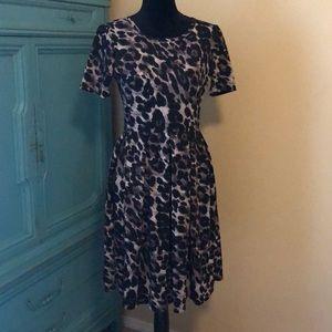 LulaRoe Purple Leopard Dress